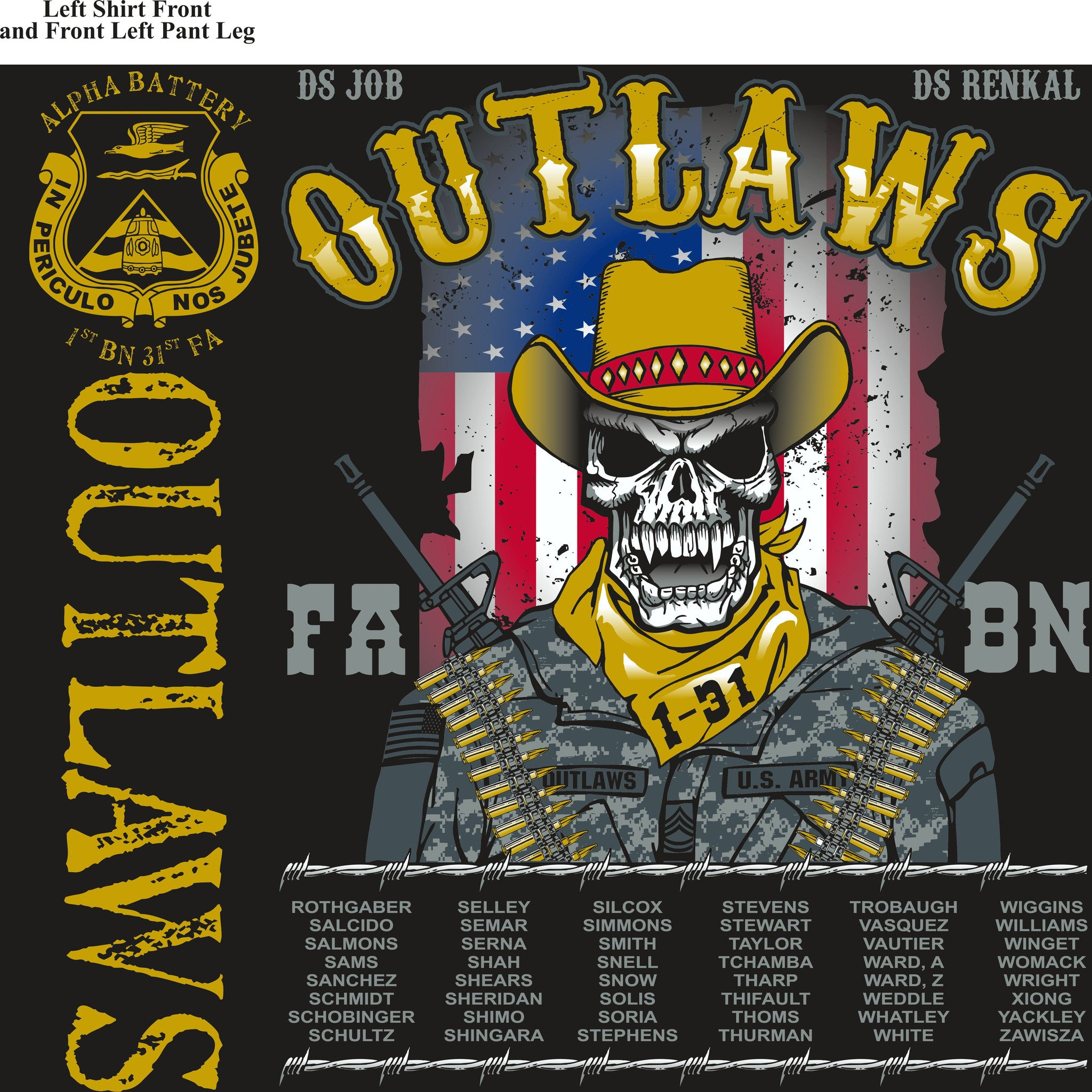 Platoon Shirts (digital) ALPHA 1st 31st OUTLAWS MAY 2015