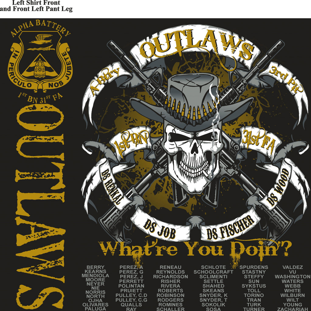Platoon Shirts (digital) ALPHA 1st 31st OUTLAWS AUG 2015