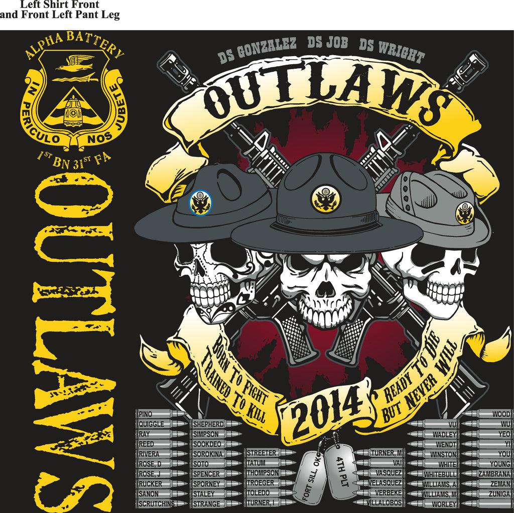 Platoon Shirts (digital) ALPHA 1st 31st OUTLAWS JAN 2015