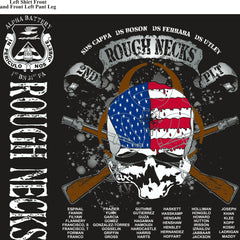PLATOON SHIRTS (2nd generation print) ALPHA 1st 31st ROUGHNECKS FEB 2017