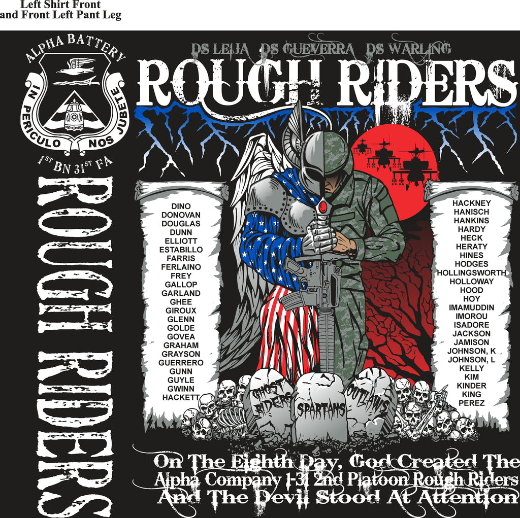 Platoon Shirts (digital) ALPHA 1st 31st ROUGH RIDERS JAN 2015