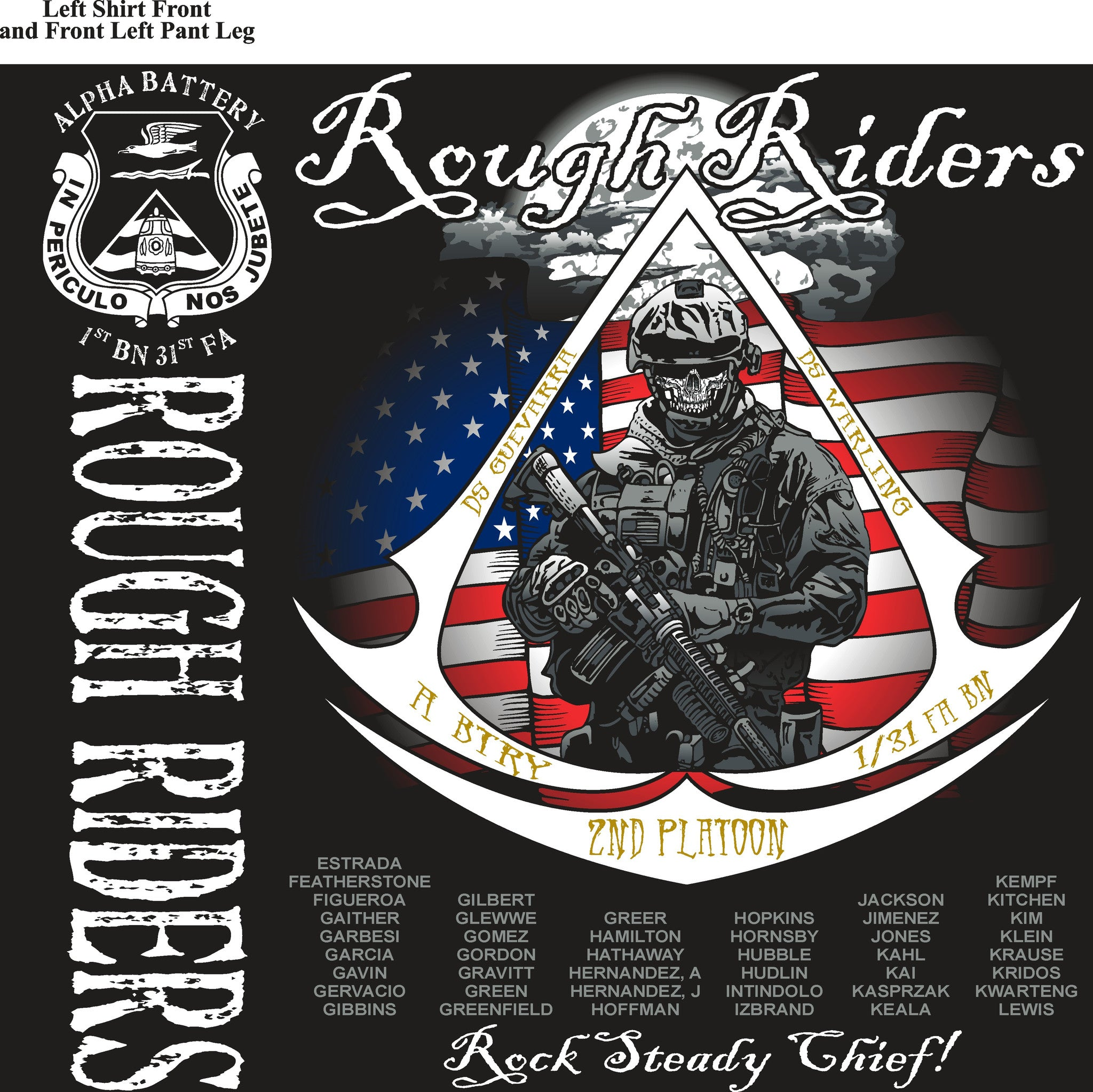 Platoon Shirts (digital) ALPHA 1st 31st ROUGH RIDERS MAY 2015