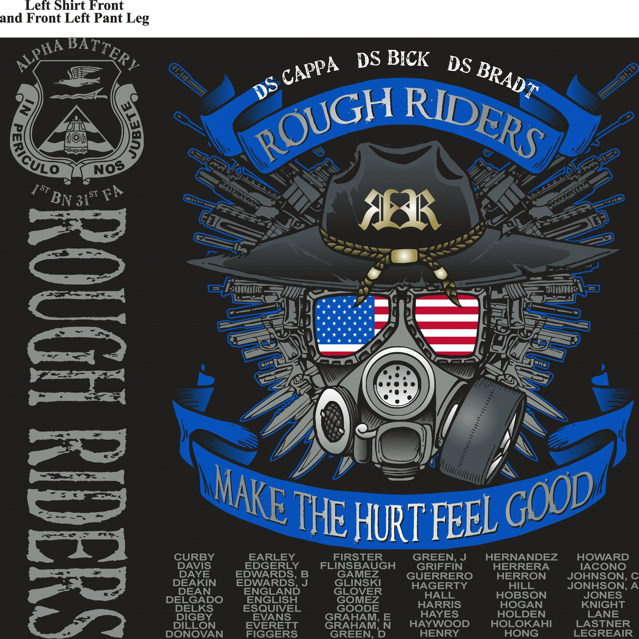 Platoon Shirts (digital) ALPHA 1st 31st ROUGH RIDERS OCT 2015