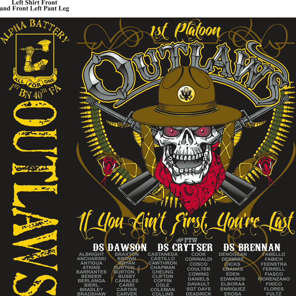 Platoon Shirts (digital) Alpha 1st 40th OUTLAWS MAR 2015