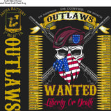 PLATOON SHIRTS (2nd generation print) ALPHA 1st 40th OUTLAWS MAR 2016