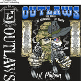 Platoon Shirts (2nd generation print) ALPHA 1ST 40TH OUTLAWS OCT 2017
