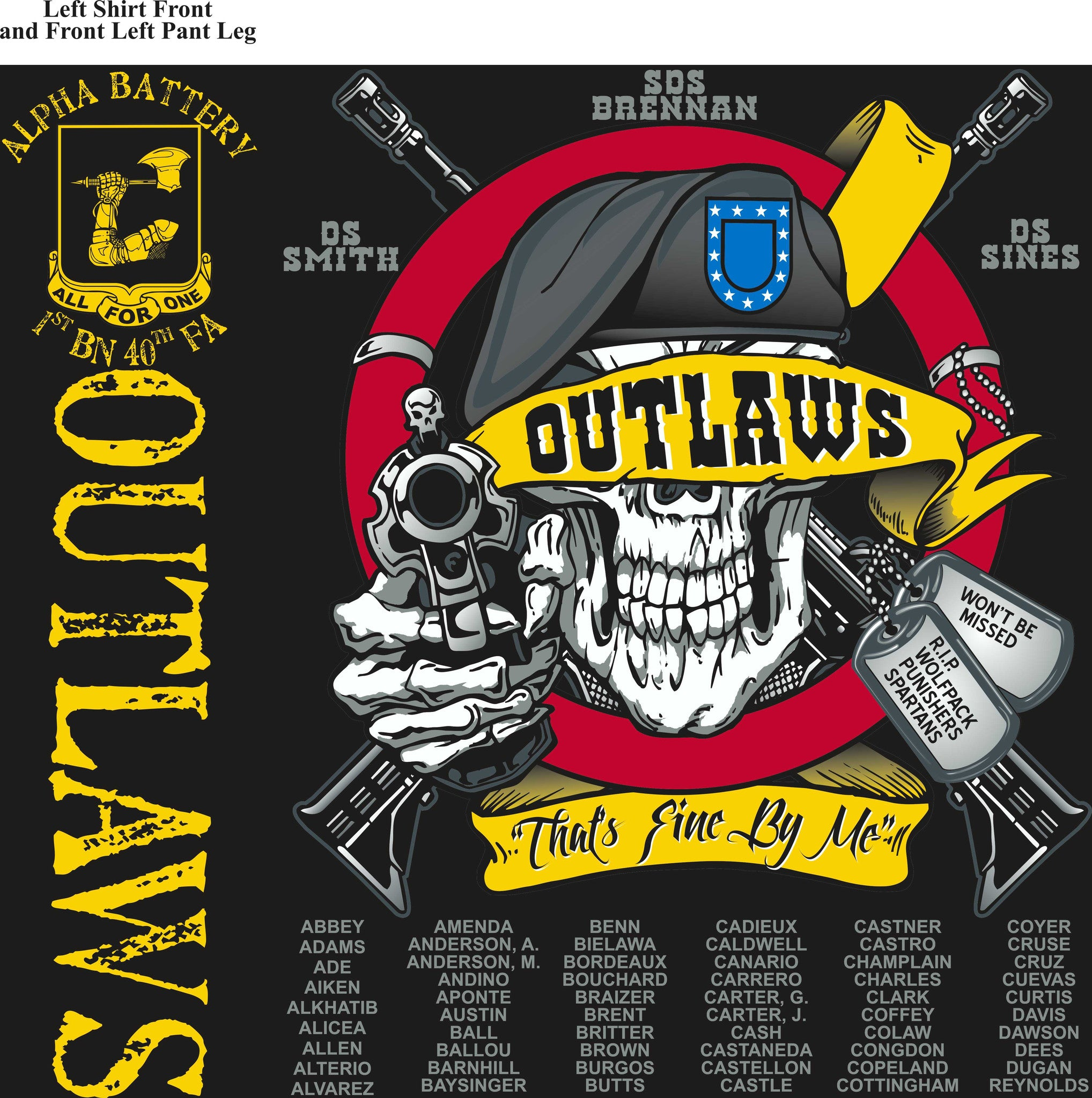 Platoon Shirts (digital) ALPHA 1st 40th OUTLAWS SEPT 2015