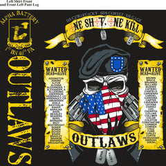 PLATOON SHIRTS (2nd generation print) ALPHA 1st 40th OUTLAWS SEPT 2016