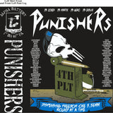 PLATOON SHIRTS (2nd generation print) ALPHA 1st 40th PUNISHERS AUG 2017
