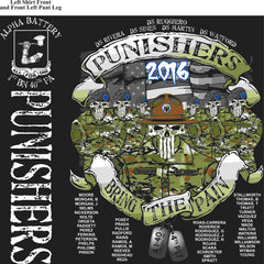 PLATOON SHIRTS (2nd generation print) ALPHA 1st 40th PUNISHERS JUNE 2016