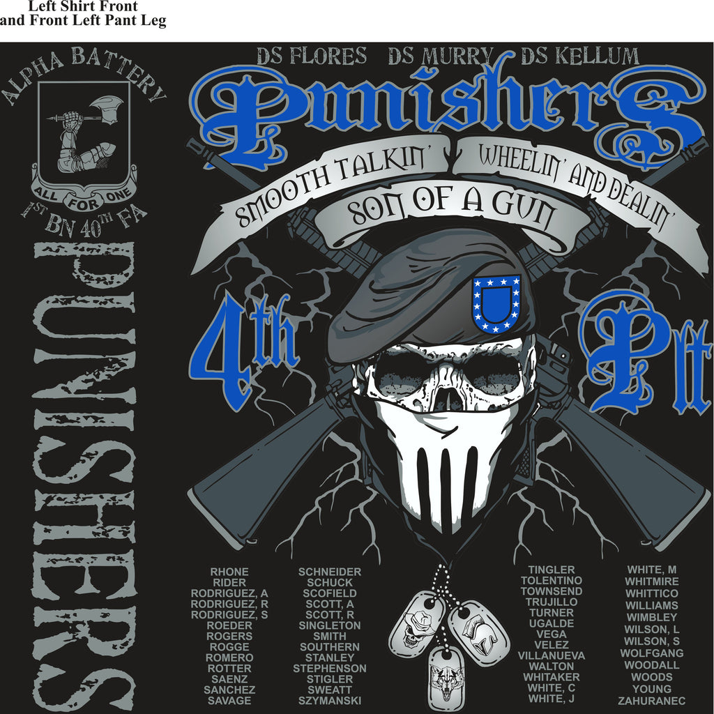 Platoon Shirts (digital) Alpha 1st 40th PUNISHERS MAR 2015