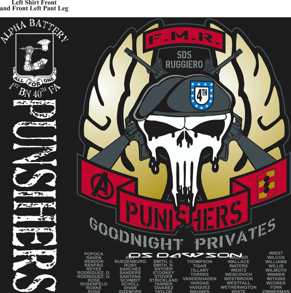Platoon Shirts (digital) ALPHA 1st 40th PUNISHERS SEPT 2015