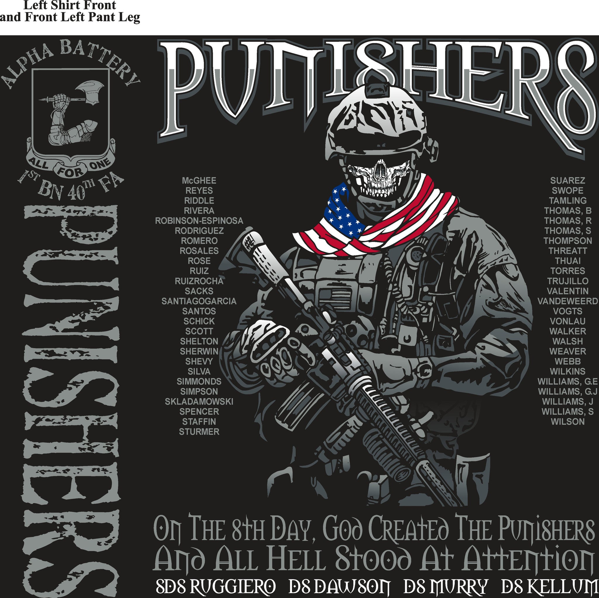 Platoon Shirts (digital) ALPHA 1st 40th PUNISHERS JUNE 2015