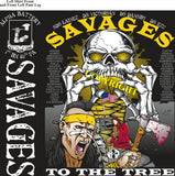 Platoon Shirts (2nd generation print) ALPHA 1st 40th SAVAGES FEB 2019