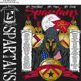 PLATOON SHIRTS (2nd generation print) ALPHA 1st 40th SPARTANS DEC 2016