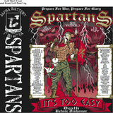 Platoon Shirts (digital) ALPHA 1st 40th SPARTANS SEPT 2015