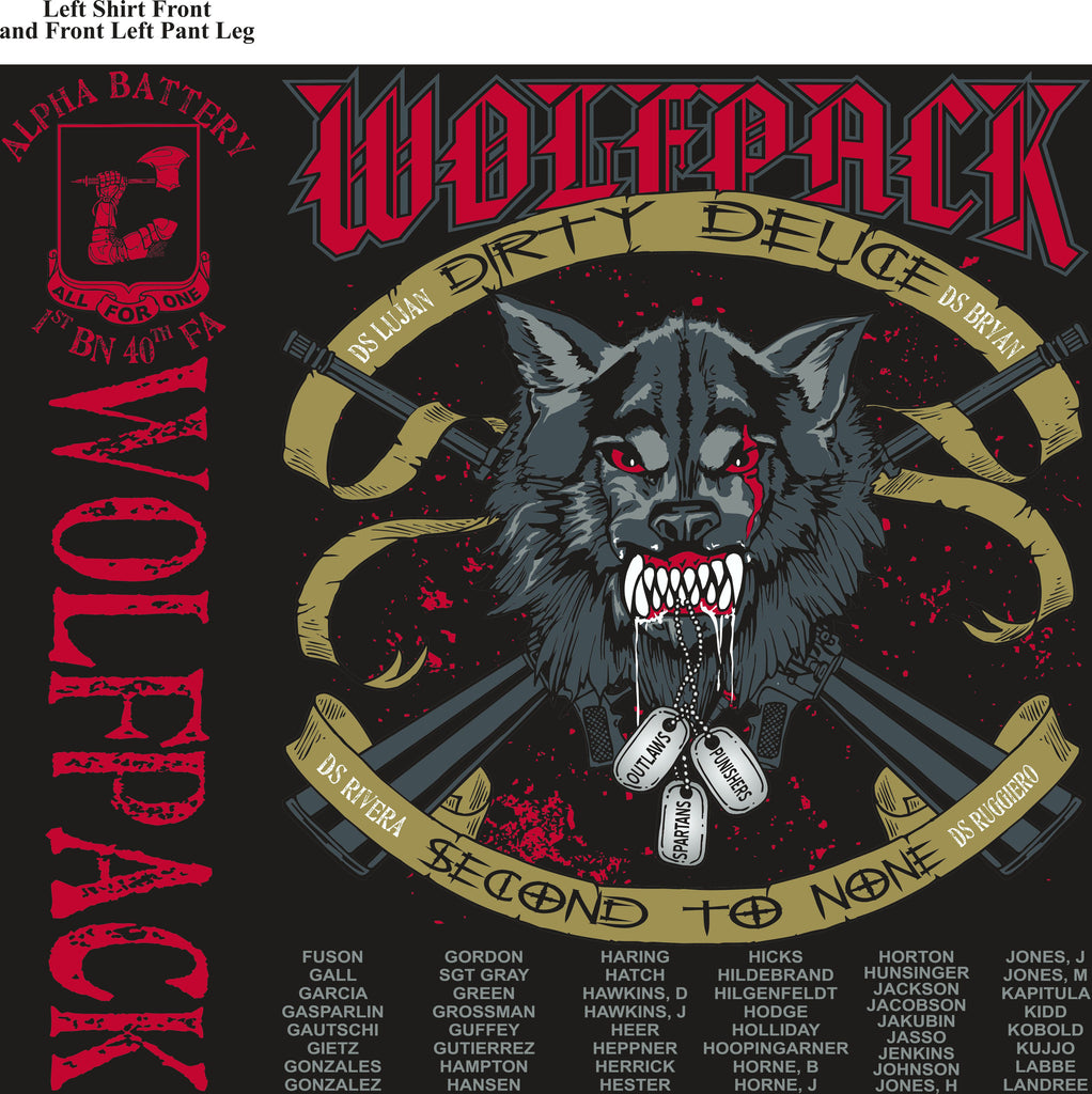 Platoon Shirts (digital) Alpha 1st 40th WOLFPACK MAR 2015