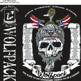 Platoon Shirts (2nd generation print) ALPHA 1st 40th WOLFPACK MAY 2018