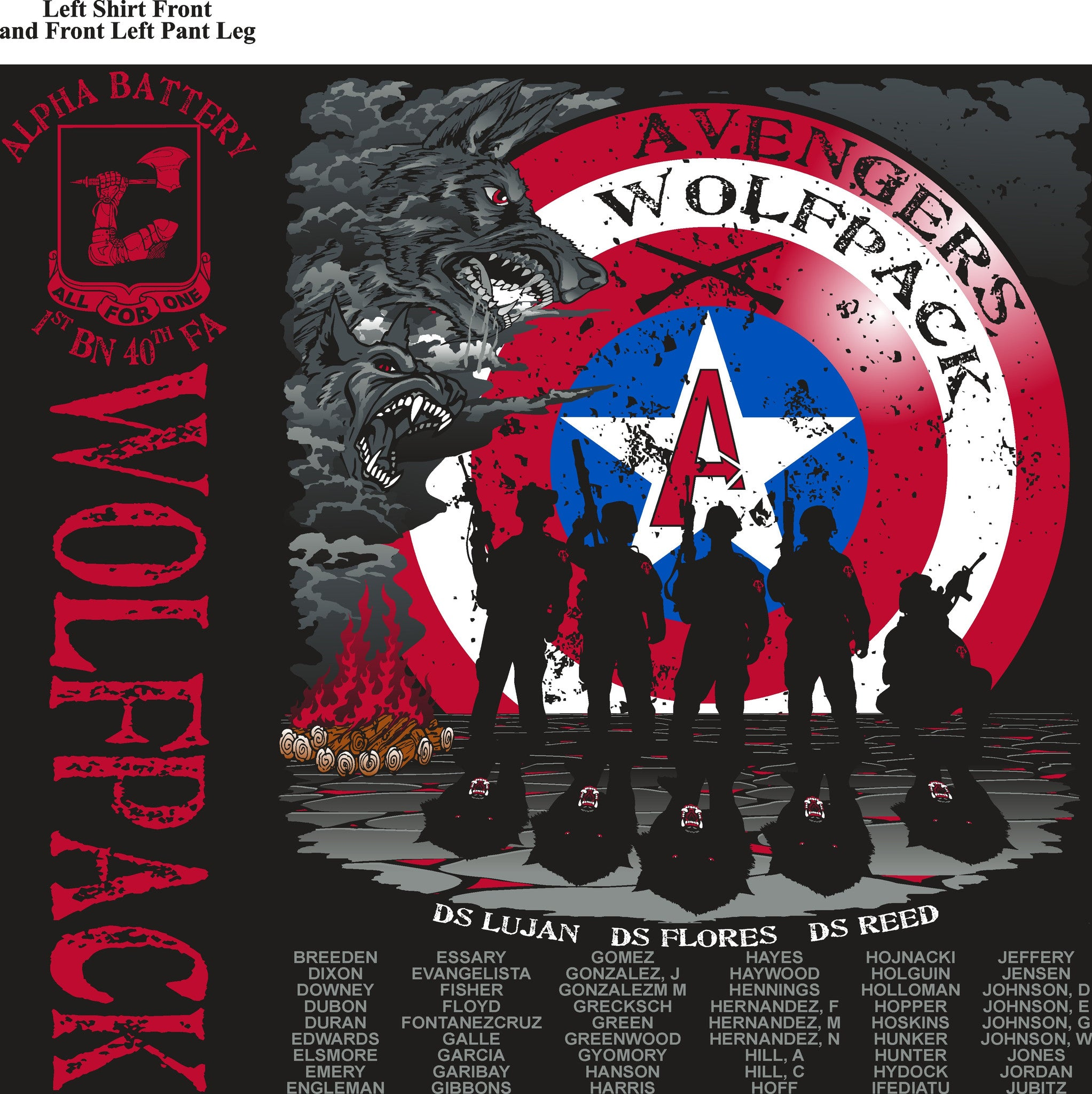Platoon Shirts (digital) ALPHA 1st 40th WOLFPACK JUNE 2015