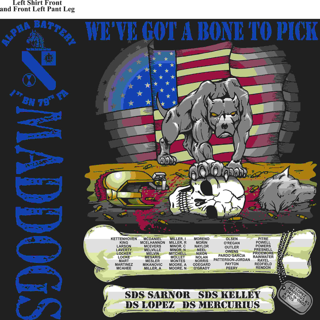 PLATOON SHIRTS (2nd generation print) ALPHA 1st 79th MADDOGS JUNE 2016