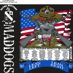 PLATOON SHIRTS (2nd generation print) Alpha 1st 79th MADDOGS MAR 2017