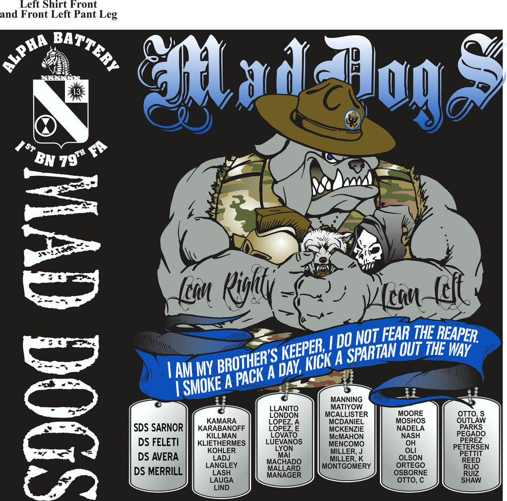 PLATOON SHIRTS (2nd generation print) ALPHA 1st 79th MADDOGS NOV 2016