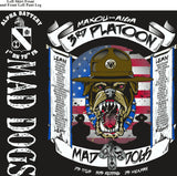 Platoon Shirts (2nd generation print) ALPHA 1st 79th MAD DOGS SEPT 2018