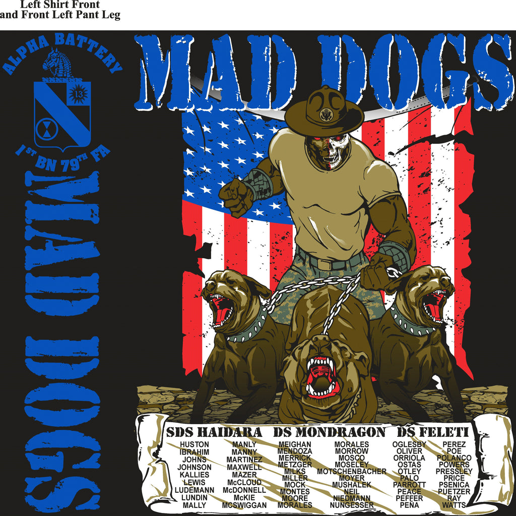 Platoon Shirts (digital) Alpha 1st 79th MADDAWGS AUG 2015