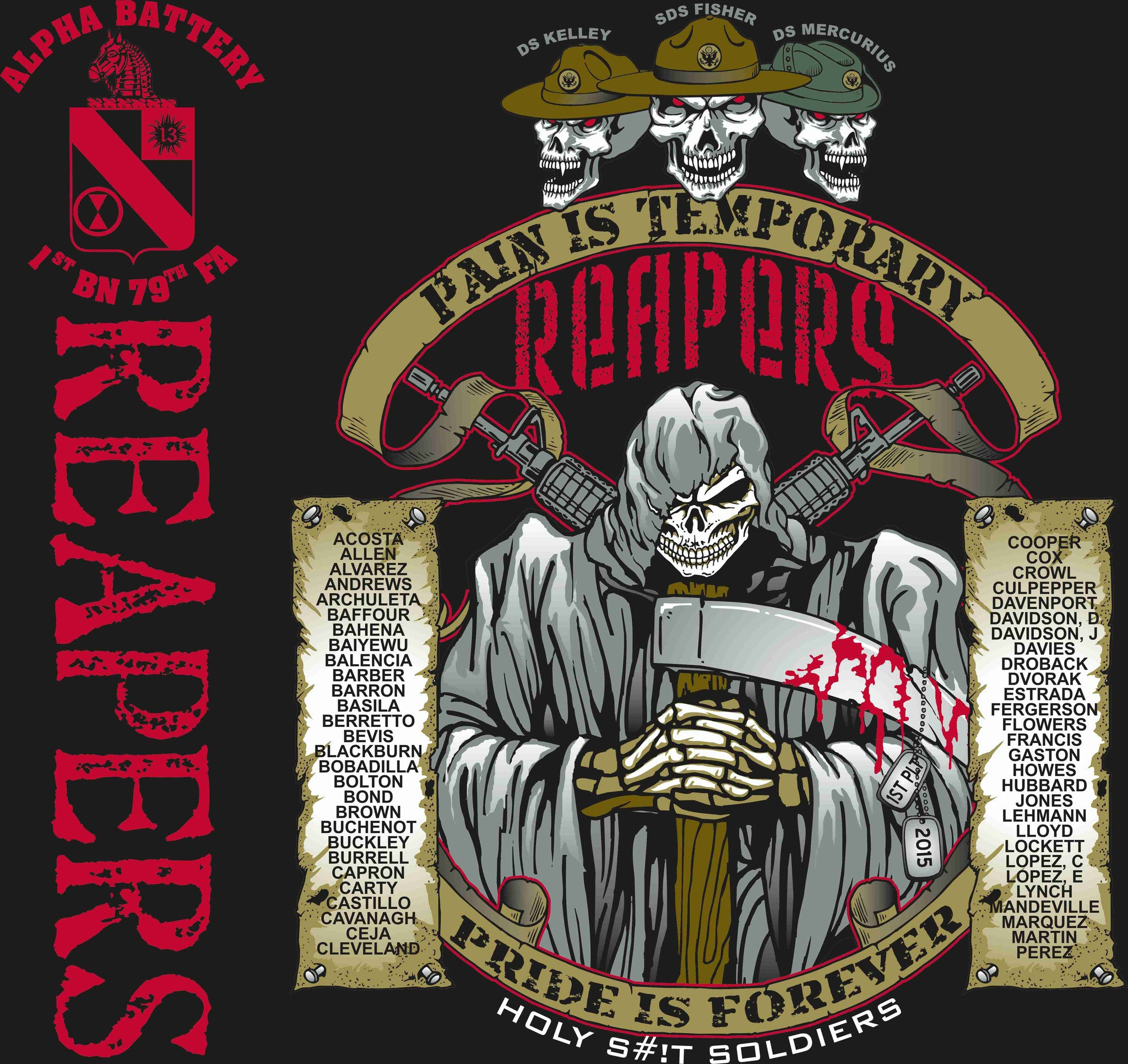 PLATOON SHIRTS (digital) ALPHA 1st 79th REAPERS NOV 2015