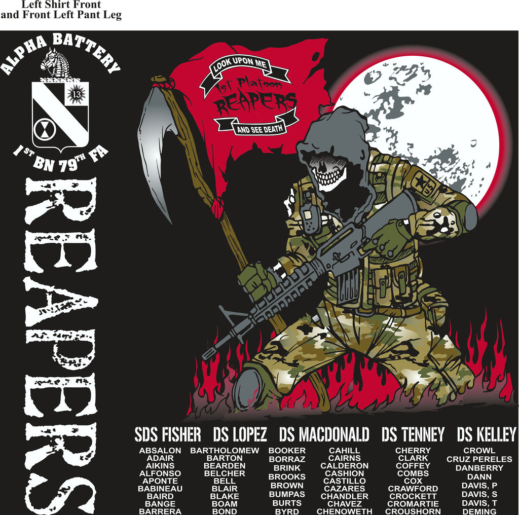 PLATOON SHIRTS (2nd generation print) ALPHA 1st 79th REAPERS NOV 2016