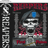 Platoon Shirts (2nd generation print) ALPHA 1ST 79TH REAPERS SEPT 2017