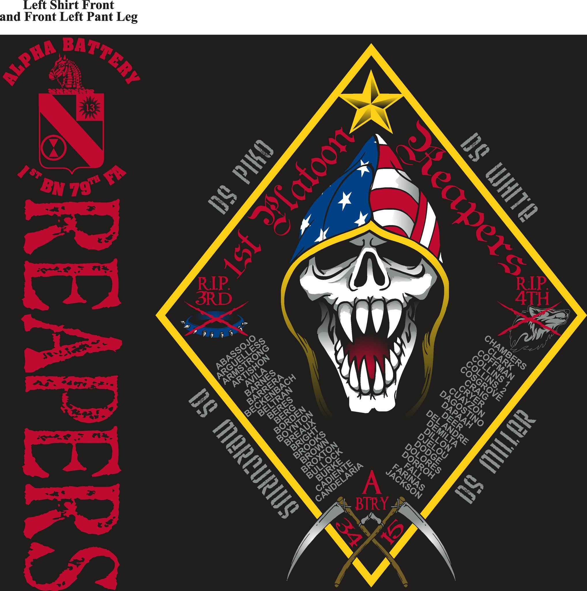 Platoon Shirts (digital) ALPHA 1st 79th REAPERS MAY 2015