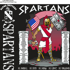 Platoon Shirts (2nd generation print) ALPHA 1ST 79TH SPARTANS DEC 2017