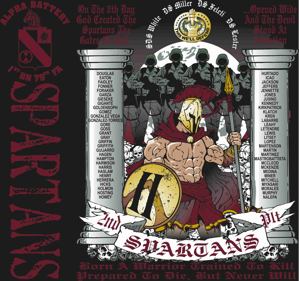 PLATOON SHIRTS (digital) ALPHA 1st 79th SPARTANS NOV 2015