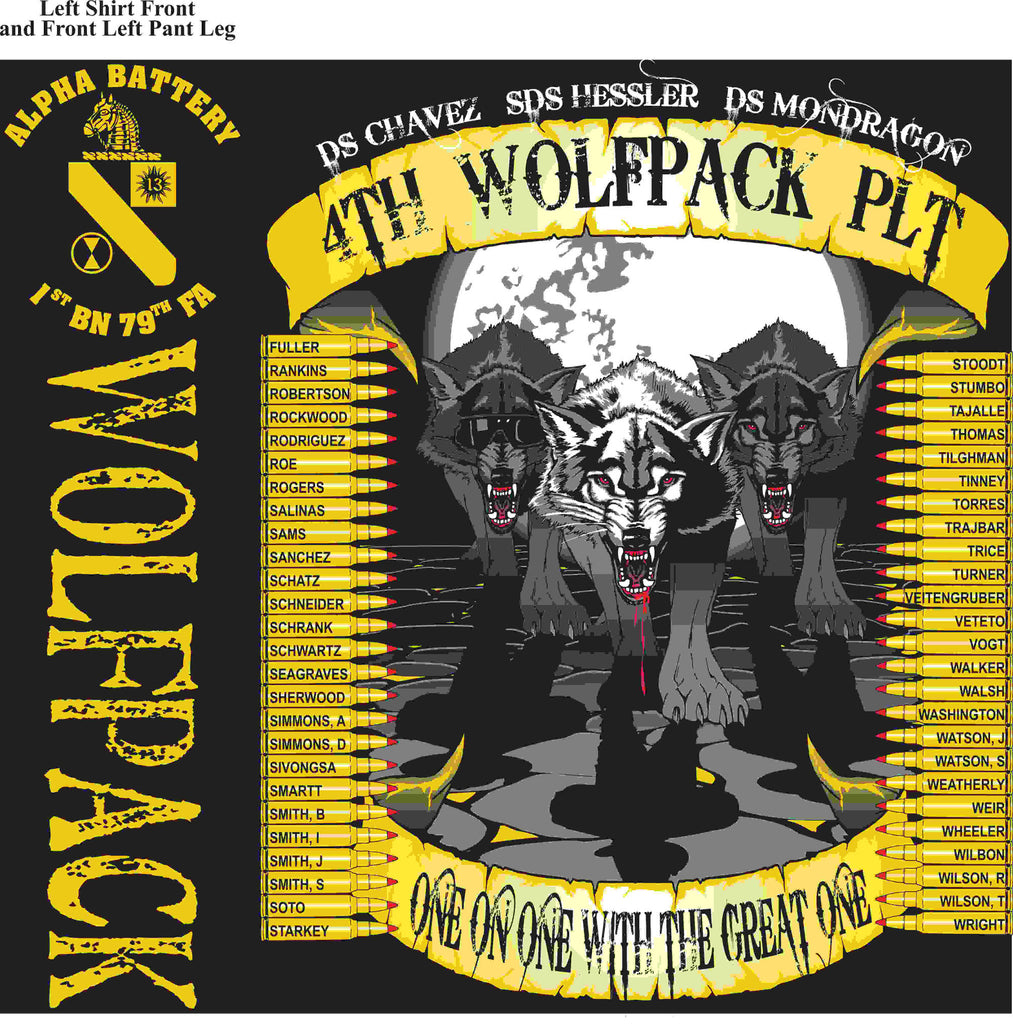 PLATOON SHIRTS (2nd generation print) ALPHA 1st 79th WOLFPACK JUNE 2016