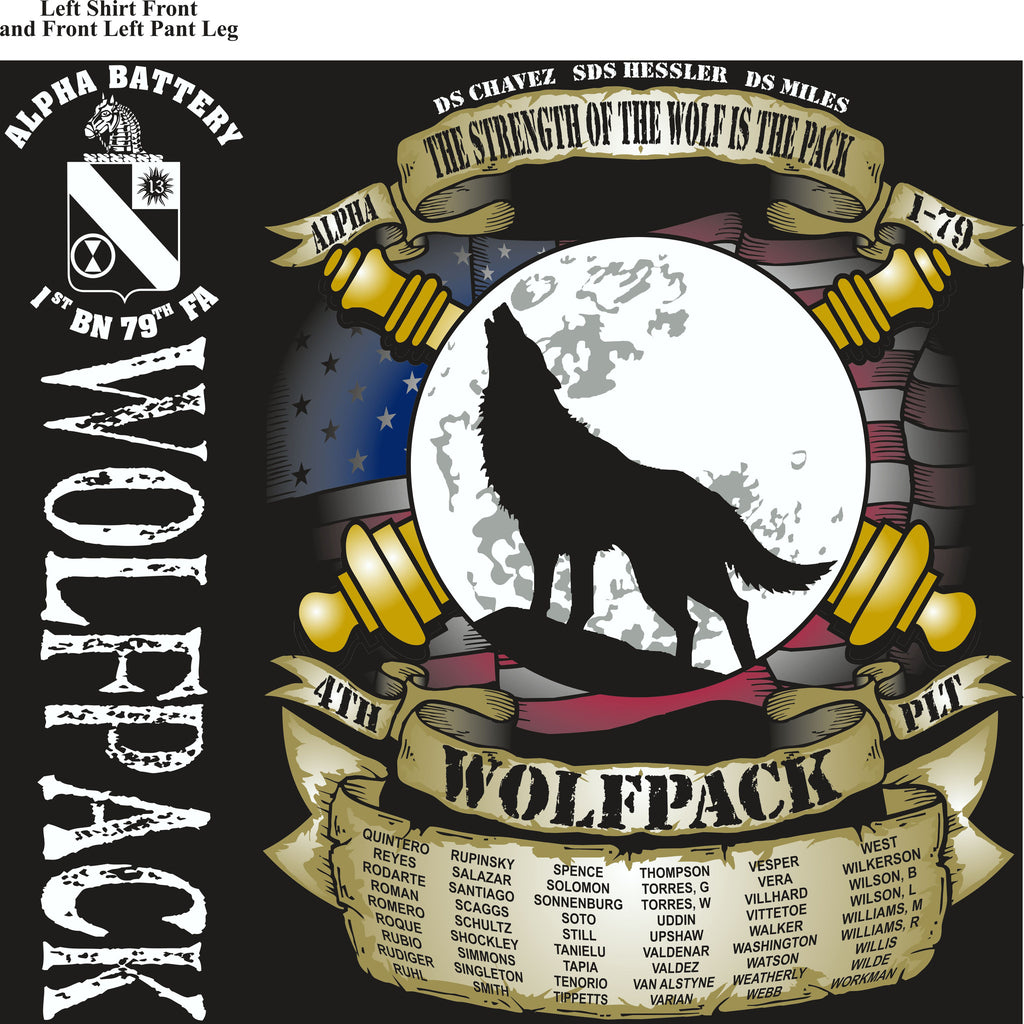 PLATOON SHIRTS (2nd generation print) Alpha 1st 79th WOLFPACK MAR 2017