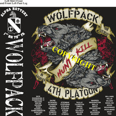 Platoon Shirts (2nd generation print) ALPHA 1st 79th WOLFPACK MAR 2019