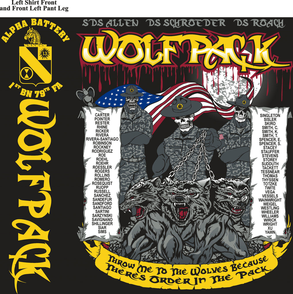 Platoon Shirts (digital) Alpha 1st 79th WOLFPACK AUG 2015