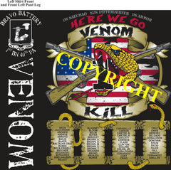 Platoon Shirts (2nd generation print) BRAVO 1st 40th VENOM APR 2021