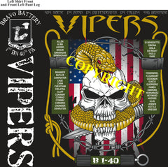 Platoon Shirts (2nd generation print) BRAVO 1st 40th VIPERS JAN 2021