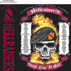 PLATOON SHIRTS (2nd generation print) BRAVO 1st 19th HELLRAISERS APR 2016