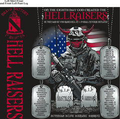 PLATOON SHIRTS (2nd generation print) BRAVO 1st 19th HELLRAISERS AUG 2016