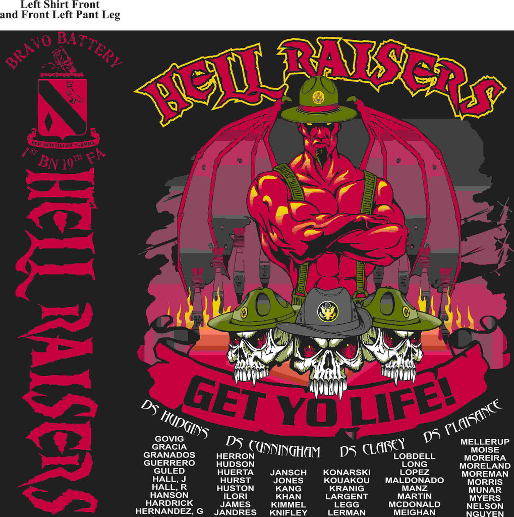 PLATOON SHIRTS (digital) BRAVO 1st 19th HELLRAISERS FEB 2016