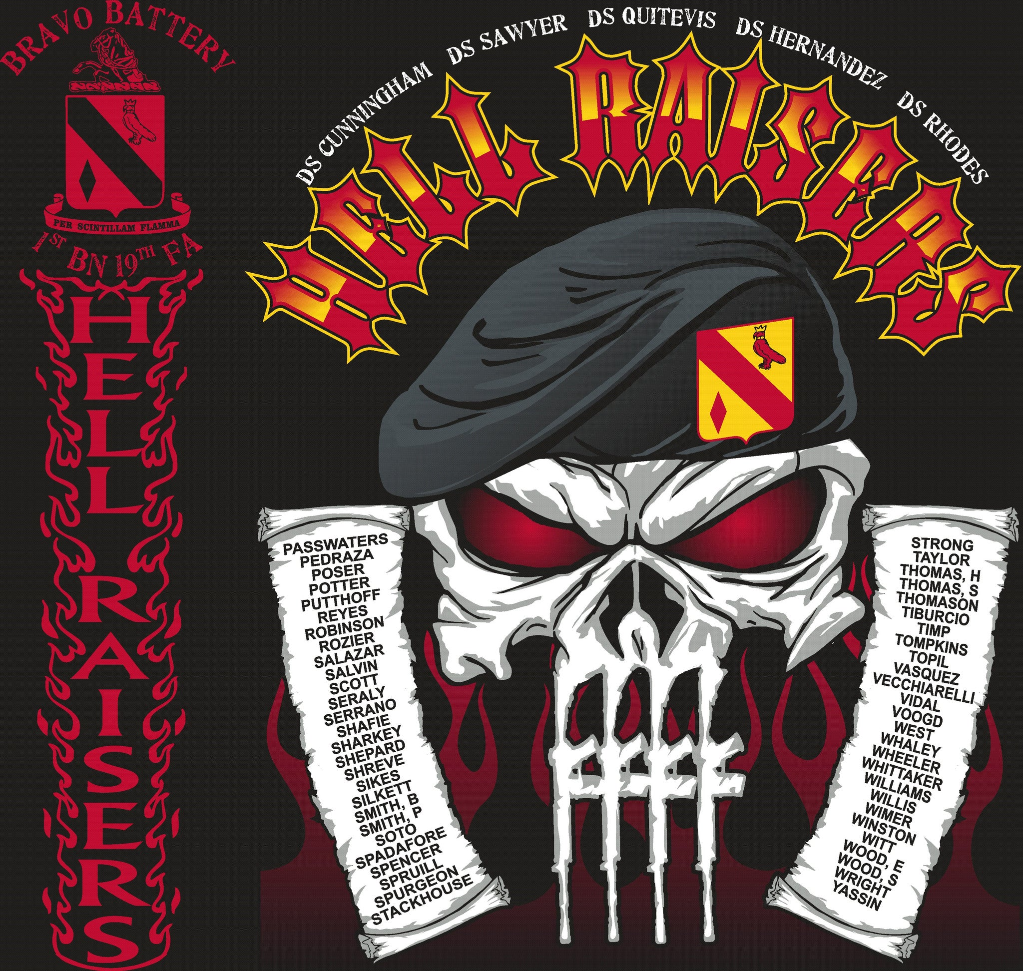 Platoon Shirts (digital) BRAVO 1st 19th HELLRAISERS JULY 2015