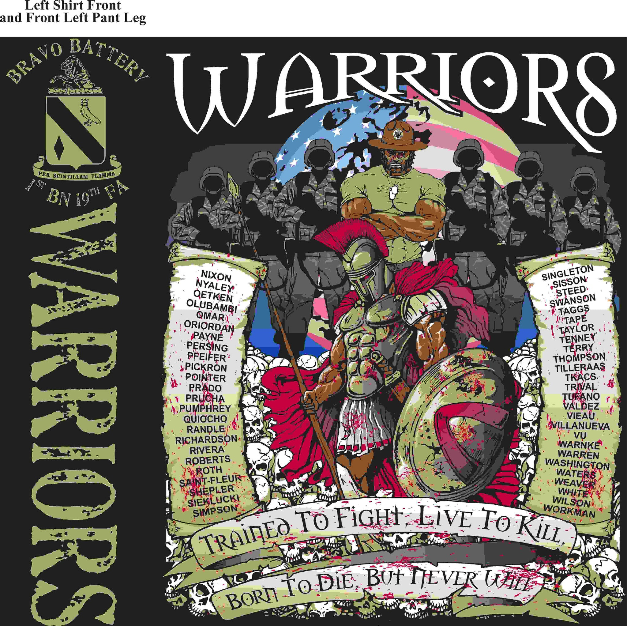 PLATOON SHIRTS (digital) BRAVO 1st 19th WARRIORS FEB 2016