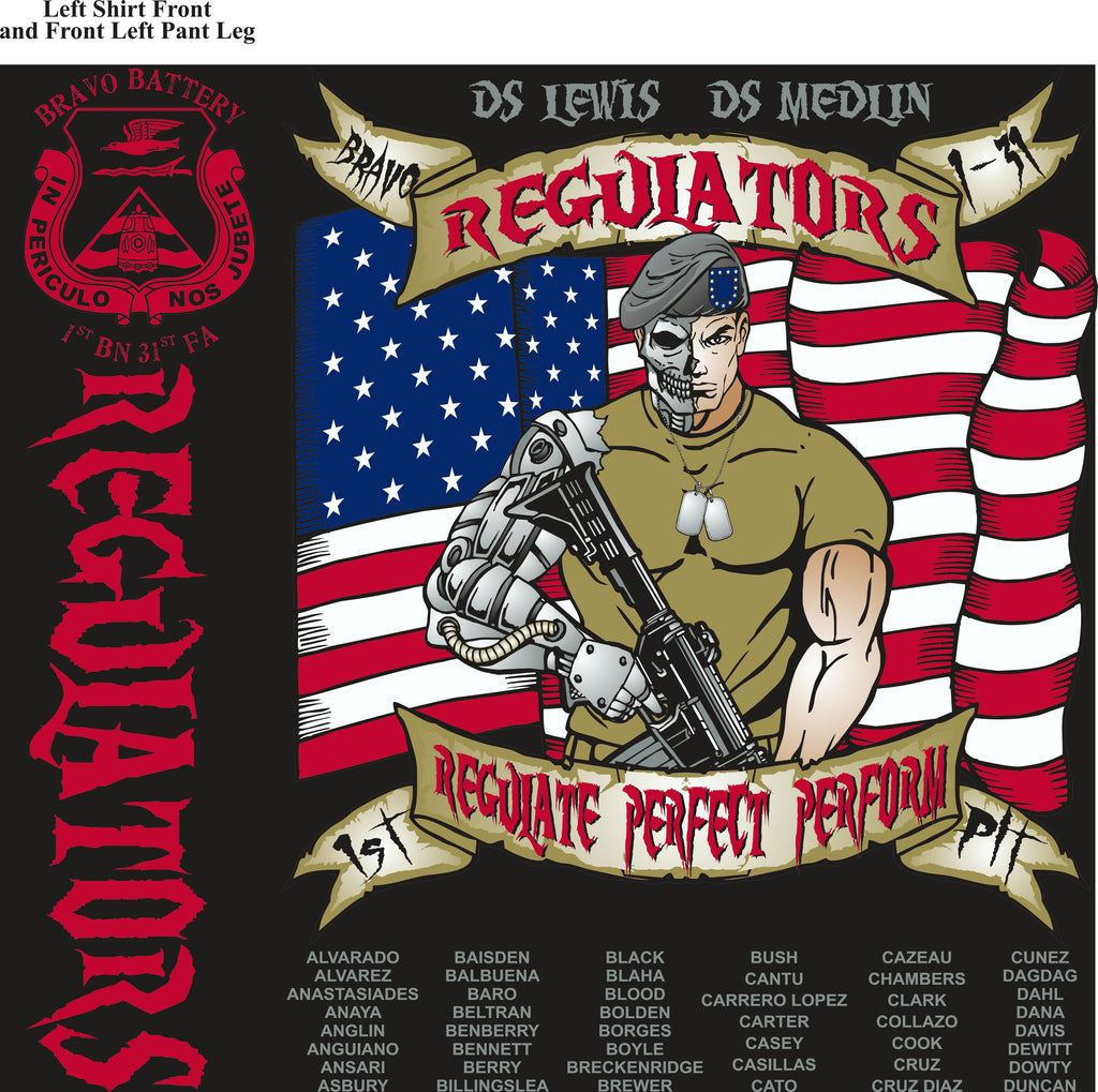 Platoon Shirts Bravo 1st 31st REGULATORS MAR 2015
