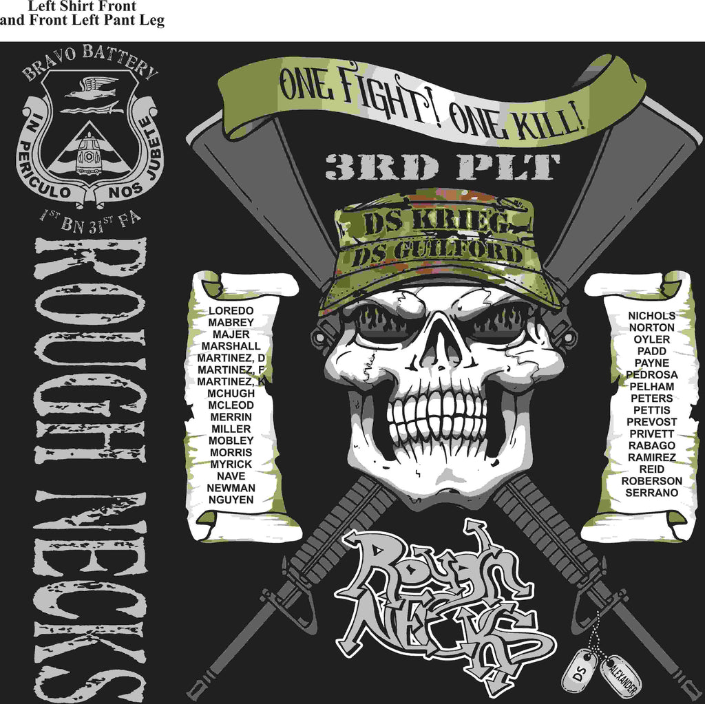 PLATOON SHIRTS (2nd generation print) BRAVO 1st 31st ROUGHNECKS JUNE 2016