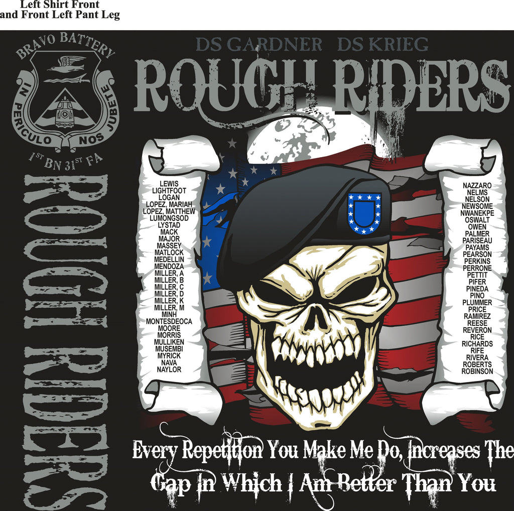 Platoon Shirts BRAVO 1st 31st ROUGH RIDERS SEPT 2015
