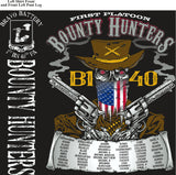 Platoon Shirts (2nd generation print) BRAVO 1st 40th BOUNTY HUNTERS AUG 2018