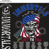 Platoon Shirts (2nd generation print) BRAVO 1st 40th IMMORTALS AUG 2018